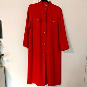 Vtg Bloomingdale's French Red Floor Length Jacket